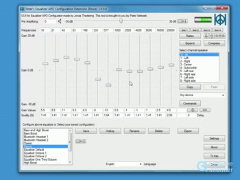 Peace equalizer not working   Realtek HD Audio: Equalizer not
