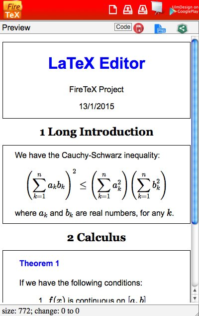 FireTeX: LaTeX Editor and Compiler – Products – EgyptFOSS