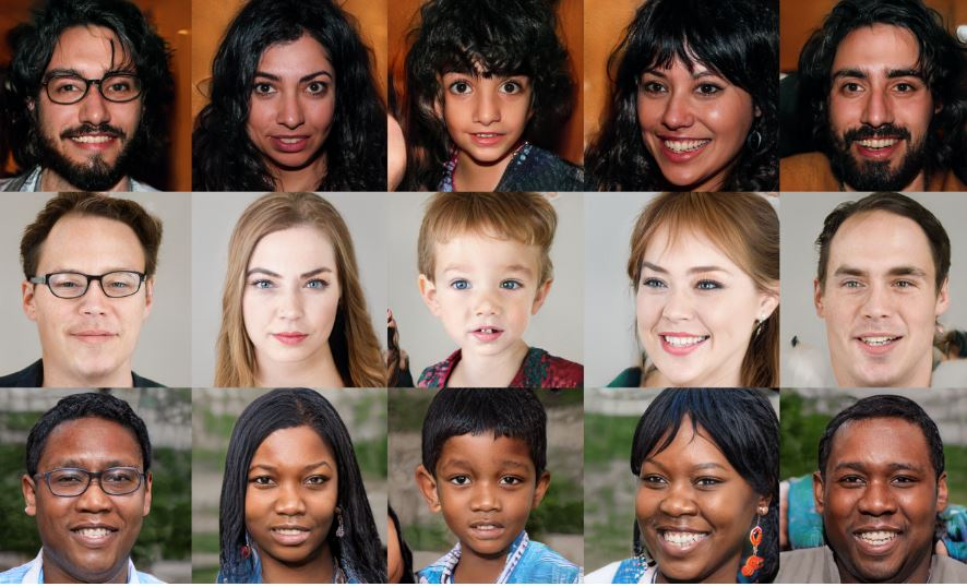 NVIDIA open-sources hyper-realistic fake faces generator